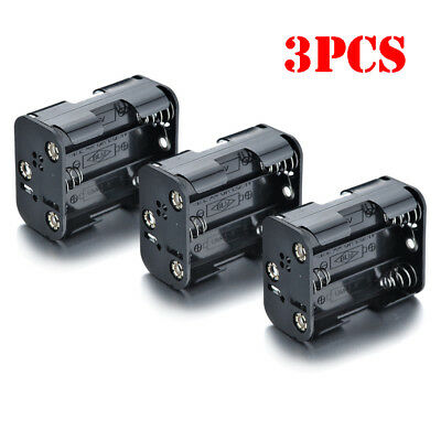 3Pcs 9V Battery Holder for 6AA Batteries with Standard Snap Connector
