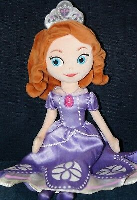 Disney Store Princess Sofia the First Doll Plush Soft Toys 13""