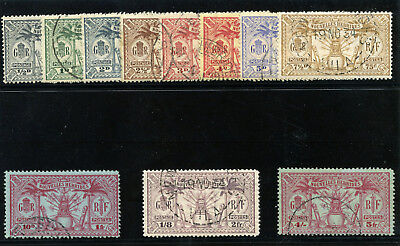 """New Hebrides-French 1925 KGV """"Weapons & Idols"""" set complete VFU. SG F42-F52."""