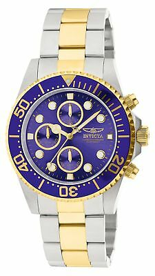 Invicta Men's 1773 Pro Diver 18k Gold Ion-Plating and Stainless Steel Watch New