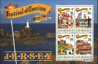 united kingdom-Jersey block5 (complete issue) used 1990 Touri