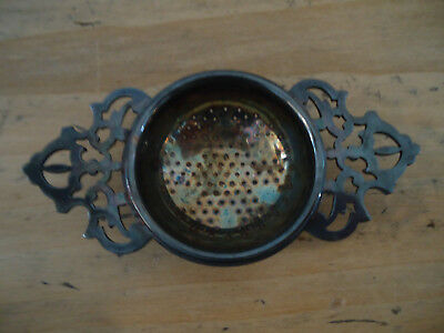 Vintage Antique Kingsway Silver Plate Tea Strainer Made In England