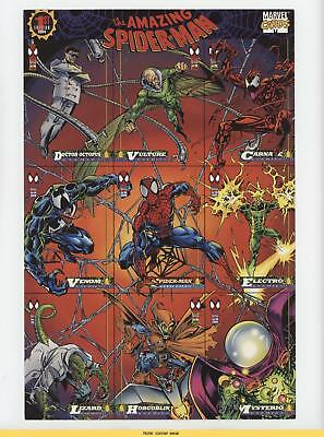 1994 Fleer Marvel Cards The Amazing Spider-Man #NoN 85 x 11 Promo Sheet READ 1m8