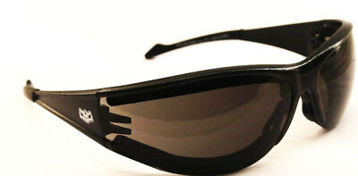 Anti-Fog Padded Motorcycle Sunglasses Biker Glasses + Free Pouch & Postage