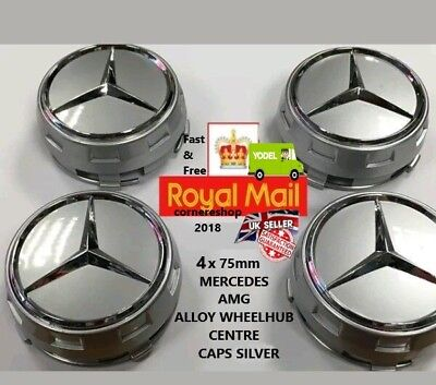 Uk Replacement Oem Mercedes Amg Alloy Wheel Hub Centre Caps 75Mm A B C E S Ml