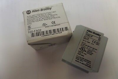 Allen Bradley Auxiliary Contact Block 100-FA02 100-F SER B 10 A A Amp New