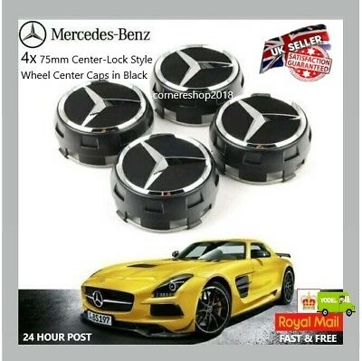 Uk Replacement Mercedes Amg Alloy Wheel Hub Centre Caps 75Mm A B C E S Ml Class