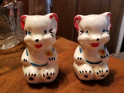 Vintage American Bisque  Bear Salt and Pepper Shakers