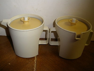 Vintage Tupperware Cream & Sugar Set #1415 & #1414