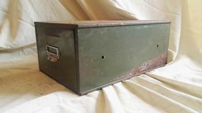 Mid Century Steel Card Index Filing Cabinet, Veteran Series Card Index File.