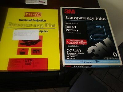 3M and Labelon Lot of Overhead Projector•Transparency Film.