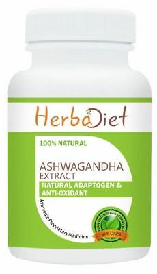 STRONG Ashwagandha Root Extract Capsules 20% Withanolides 500mg Anti-Stress