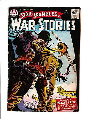Star Spangled War Stories #54  [1957 Vg+]  Paratrooper Cover!