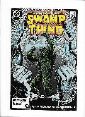 Swamp Thing #51  [1986 Fn-Vf]  Alan Moore Story!