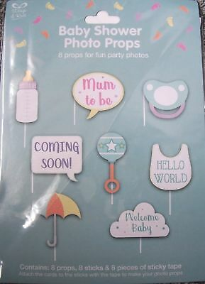 Baby Shower Photo Props. 8 props for your baby shower photographs.