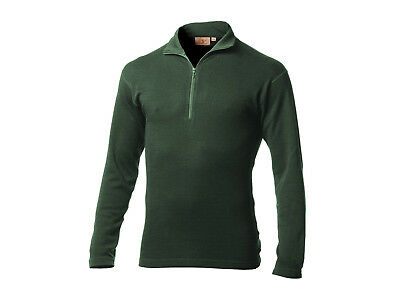 "Minus33 Langarm Baselayer / Pullover ""Isolation"" mit Zipper, 100% Merino, olive"