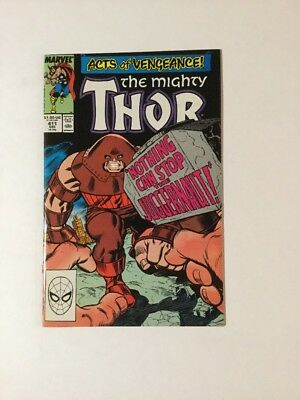 Thor 411 NM Near Mint Cameo Of New Warriors