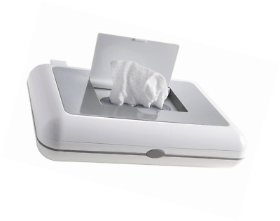 Compact Wipes Warmer Grey Baby Diapering Plastic Holds 30 Wipes For Diaper Bag