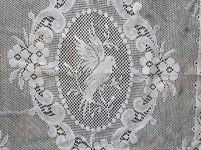 """White Cotton Lace Doves Cameo lace panelling 23""""wide yardage off roll to finish"""