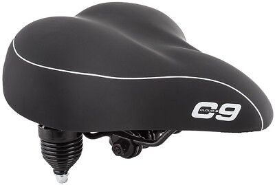 Cloud-9 Cruiser Anatomic Comfort Foam /& Spring Bicycle Seat Lycra Black Grey