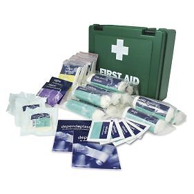10 Person First Aid Kit HSE Compliant Workplace Kit Storage Case