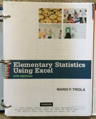 Elementary statistics using excel by mario f triola 5th edition cd elementary statistics using excel by mario f triola 5th edition cd paperback fandeluxe Choice Image