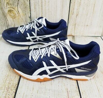 54902010bf58 WOMENS ASICS GEL-TACTIC VOLLEYBALL SHOES Sz 7.5 BLUE   SILVER