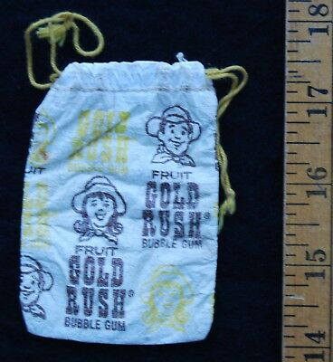 [ 1970s Topps GOLD RUSH Bubble Gum Pouch - Vintage Candy Package ]