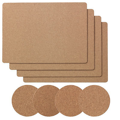 IKEA AVSKILD Set of 4 Cork Place Mats / Coasters Dining Table / Kitchen