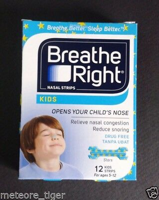 Lot 12c New Breathe Right Kid Nasal Strip Sleep Congestion Allergy USA Free Ship