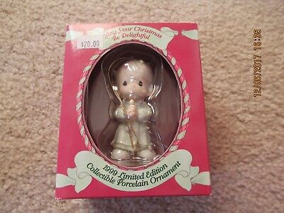 Precious Moments Ornament May Your Christmas Be Delightful Boy MIB 15849R