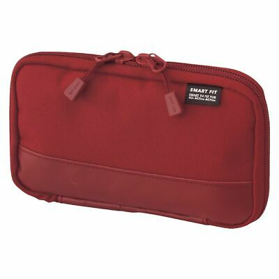 Smart Fit Single Zip Compact Pencil Case Red