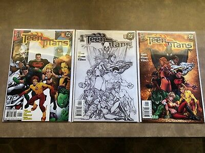 DC Teen Titans 2003 1-19 Comic Series with Variants