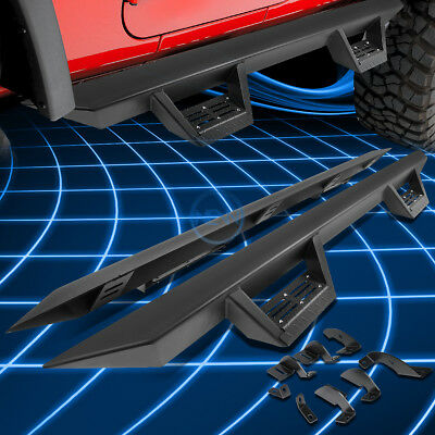 """3/""""Black Running Board Nerf Bar+Step Pad for 2005-2017 Tacoma Extended Access Cab"""