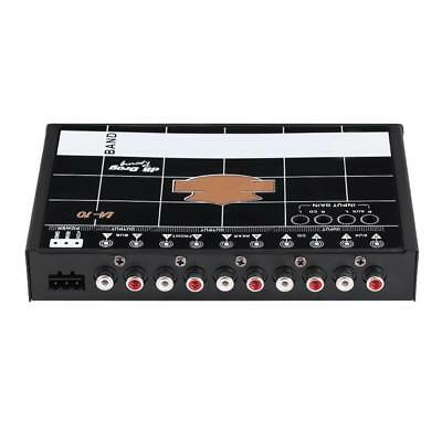 Car Audio Modified 7-Band Graphic Equalizer EQ 7s Stereo Tuner with 3.5mm Aux-in