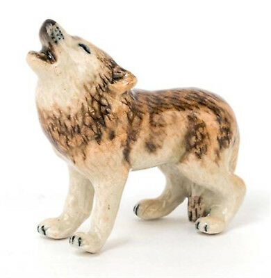 ➸ LITTLE CRITTERZ Forest Animal Miniature Figurine Howling Wolf Lobo