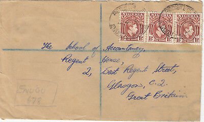 NIGERIA  (rf71) 1938/52 lot of 4 covers st. to SCOTLAND