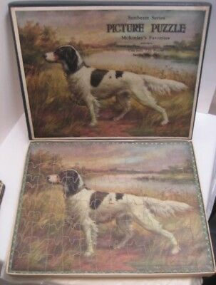 Old Wooden Madmar Jigsaw Puzzle w/ Box - Hunting Dog - McKinleys Favorites 120pc