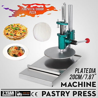 7.8inch Manual Pastry Press Machine Pizza Base Roller Sheeter Stainless Steel
