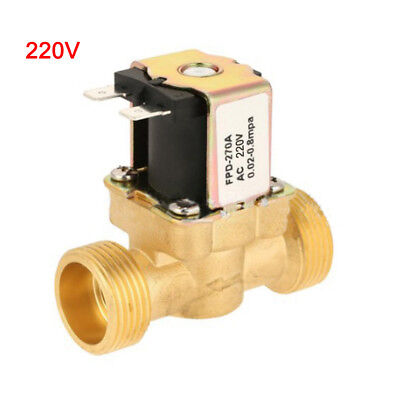 AC220V 1/2Inch Electric Solenoid Valve Magnetic N/C Water Air Inlet Switch Tools