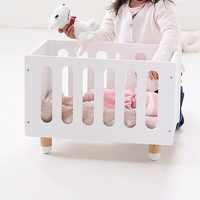 WHITE HipKids Doll Cot Doll's Bed White