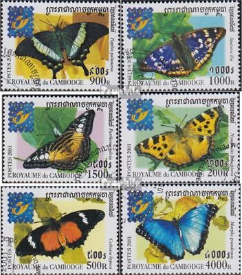 Cambodia 2186-2191 (complete issue) used 2001 Butterflies