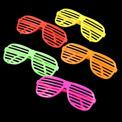 80'S Neon Shutter Shades Glasses Retro Sunglasses Nightclub Bar Party Decoration