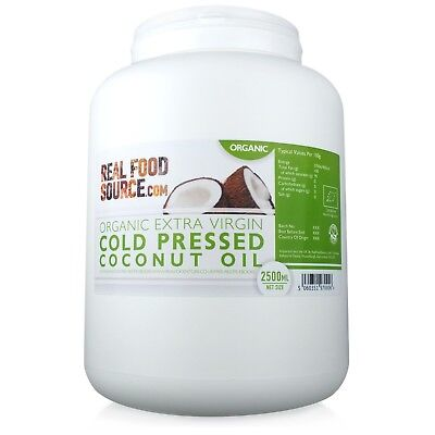 RealFoodSource - Organic Cold Pressed Coconut Oil Tub 2.5 Litre