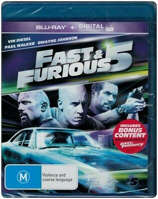 "Clearance ""FAST & FURIOUS 5"" Blu-ray - Region [B] NEW"