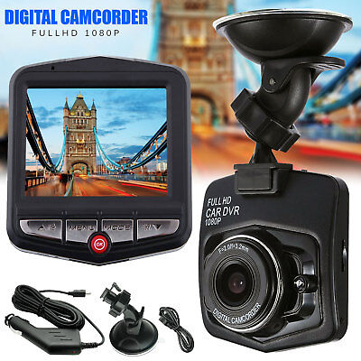 HD 1080P In Car DVR Camera Dash Cam Video Recorder Black Night Vision G sensor U