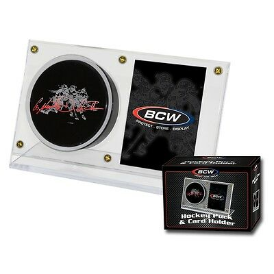 Ice Hockey Puck & Card Acrylic Display Case