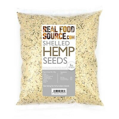RealFoodSource - EU Raw Shelled Hemp Seeds 1kg