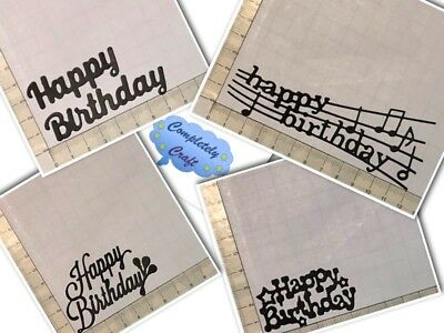 Birthday Word Die Cuts - Scrapbooking, Card, Topper, Embellishments