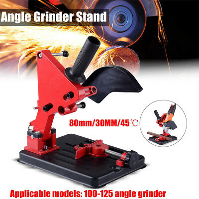 125mm Electric Angle Grinder Stand Holder 45° Cutting Fixing Clamp Bracket Tool